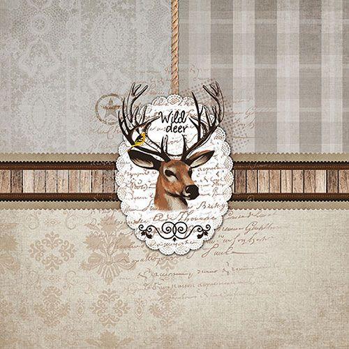Serviette Wild Deer 33x33cm 20er Pack bei Tischdeko-Shop.de