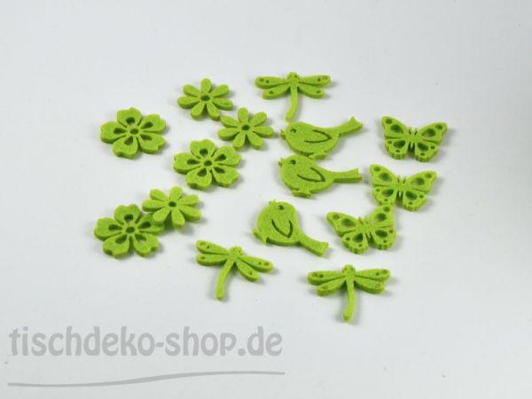 Filz-Streu Sommer grün sort.