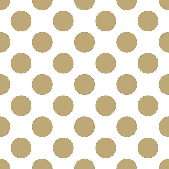 Serviette Big Dots Gold 33x33cm 20er Pack bei Tischdeko-Shop.de