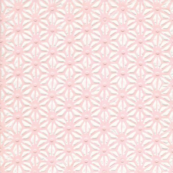 Serviette Hamp leaf pattern Rosa 33x33cm 20er Pack bei Tischdeko-Shop.de