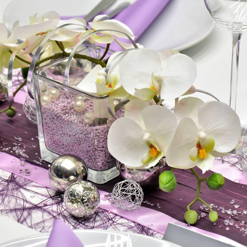 Orchideen tischdeko hochzeit - Tischdeko aubergine ...