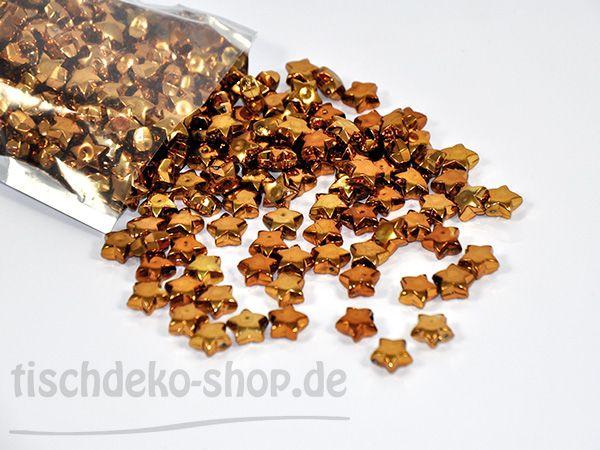 Streudeko Sterne Kupfer 13mm Acryl