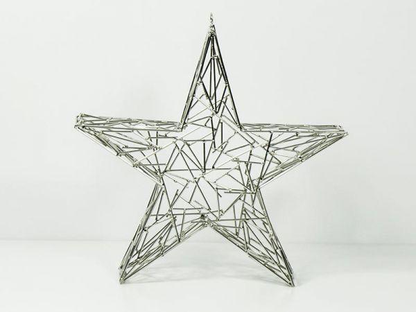 Draht-Stern Silber 38x7cm Deko-Objekt