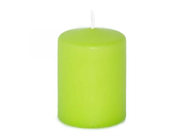 Stumpenkerze Limone / Grün H80 D60 mm
