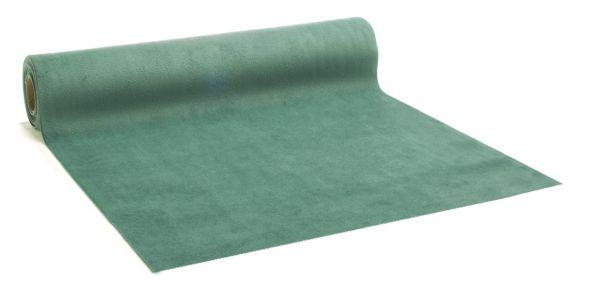 Tischband Velvet-Samt Patinagrün 28cm x 2,5m