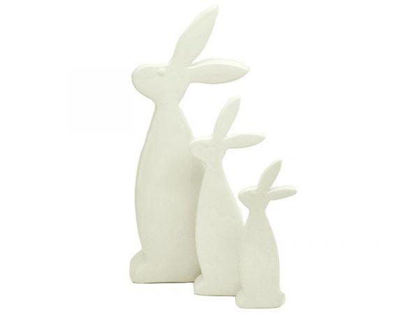 Deko Hase Victory Porzellan Weiß