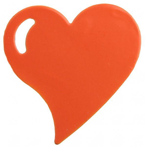 Herz-Clips Orange Metall 4er Set