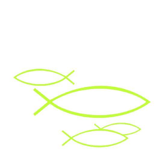 Serviette Peaceful Fish light green 24x24cm 20er Pack