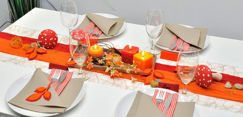 Tischdeko Herbst tischdekoration herbst beere taupe mit kürbis bei tischdeko shop de