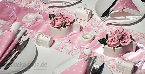Tischdekoration In Rosa Mit Fisch Kaufen Tischdeko Shop