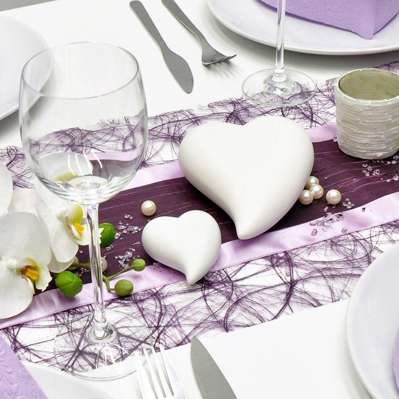 Tischdekoration In Aubergine Flieder Zur Hochzeit Tischdeko Shop De