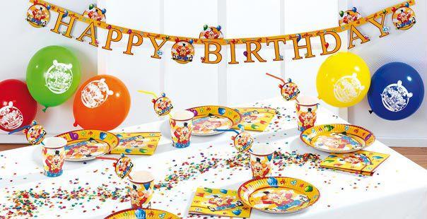 Tischdekoration Happy Birthday Clown Kaufen Tischdeko Shop