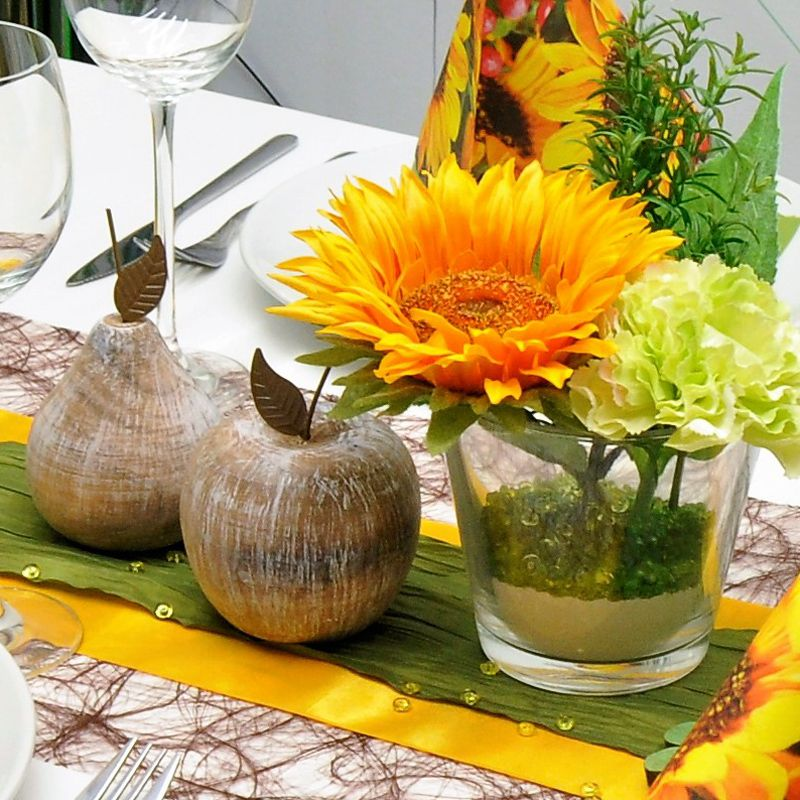 Tischdekoration Braun Mit Sonnenblume Kaufen Tischdeko Shop