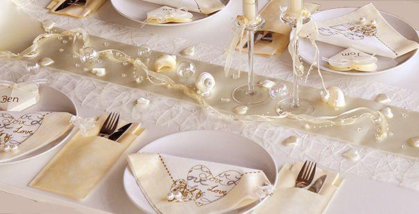 Tischdekoration In Der Farbe Creme Champagner Kaufen