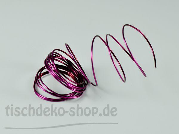 Aludraht-Ring Pink Ø 2mm 3 Meter