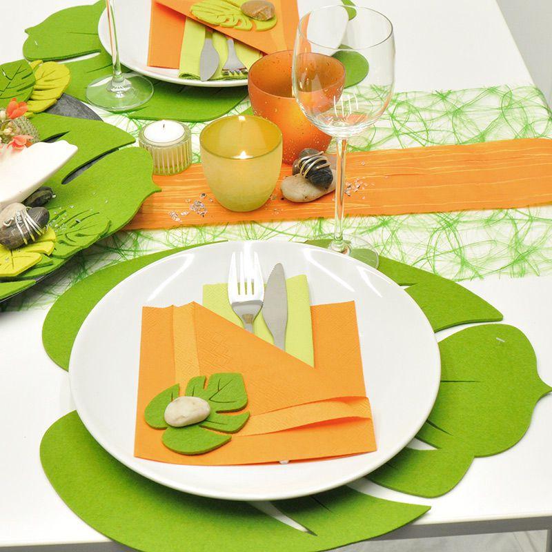 Tischdekoration Sommer In Grun Orange Kaufen Tischdeko Shop