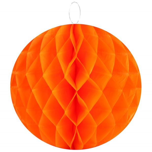Wabenball Ø20cm orange 2er Set bei Tischdeko-Shop.de