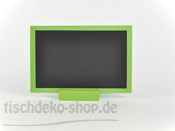 Tischtafel 10x15cm Holz Schwarz/Grün