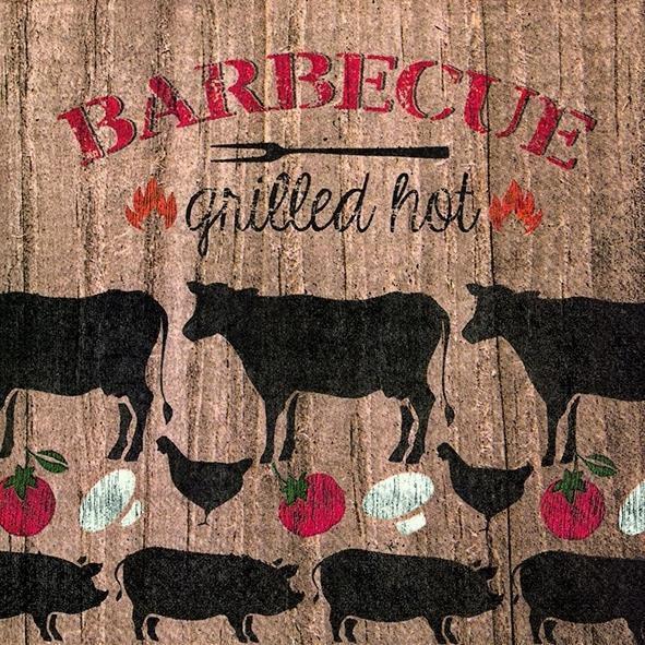 Serviette BARBECUE GRILLED HOT 20er Pack