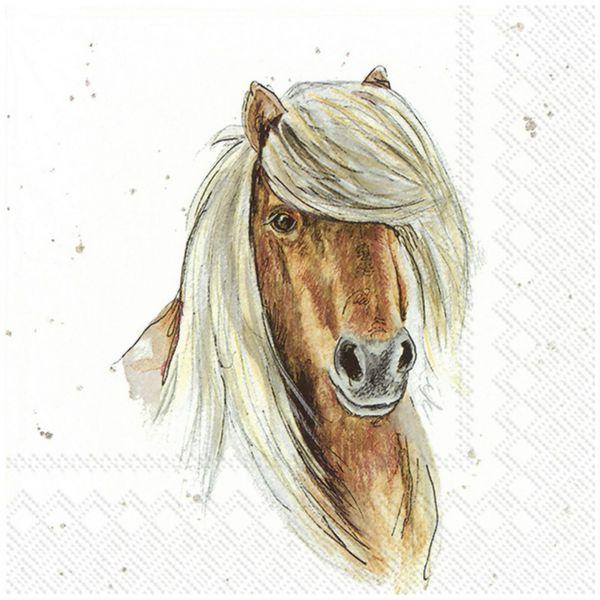 Servietten Farmfriends Horse 33x33cm 20er Pack bei Tischdeko-Shop.de