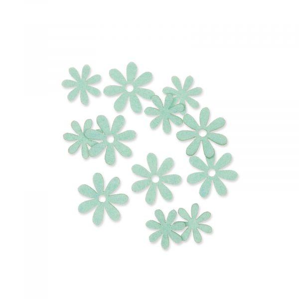 Filzsortiment Blüten Mint 2,2 - 2,8cm 2 Motive 72er-Set bei tischdeko-Shop.de