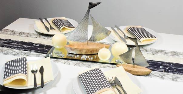 moderne deko kommunion, tischdekoration - auf großer fahrt   tischdeko-shop, Design ideen