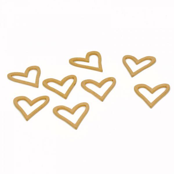 Streudeko Herz Gold ca. 3cm 8 Stück bei Tischdeko-Shop.de