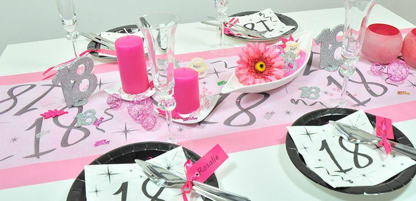 Tischdekoration 18 Geburtstag Pink