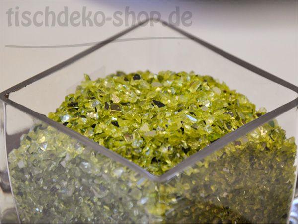 Spiegelgranulat Apfelgrün mit Glitzereffekt 1 kg bei Tischdeko-Shop.de