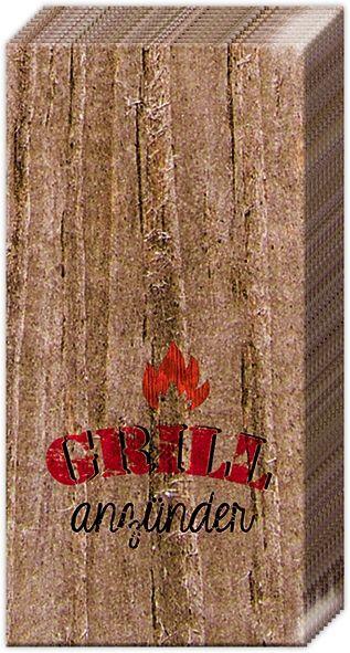 Taschentücher BARBECUE GRILLED HOT 10er Pack