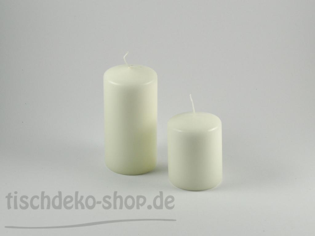 Festliche stumpenkerze 60 x 120 mm elfenbein for Tischdeko shop