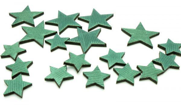 Stern Mix Paper Art Grün 3-5cm 18 Stck bei Tischdeko-Shop.de