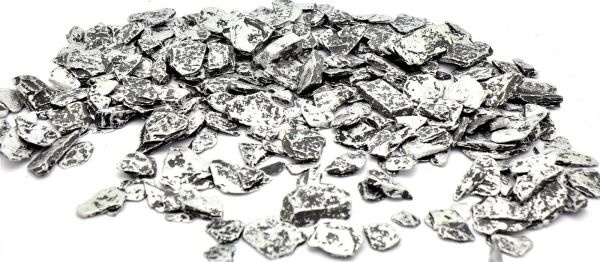 Schiefer Streudeko Silber 20-40mm 500gr bei Tischdeko-Shop.de