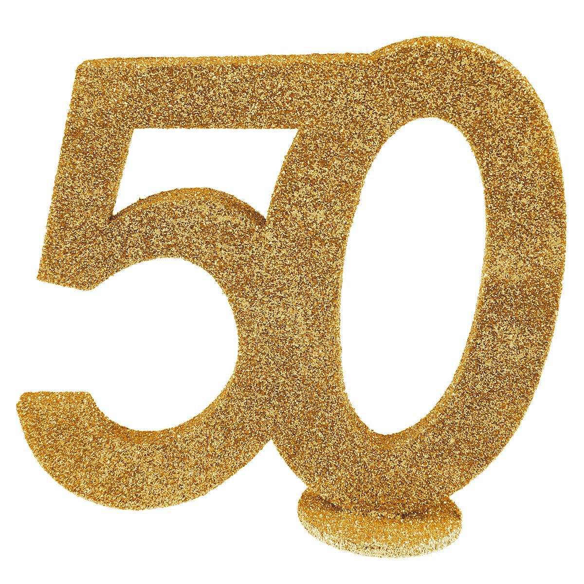 Tischkonfetti Zahl 50 gold glitzer10 St Tischdeko 6x5 cm Geburtstag Jubiläum Neu