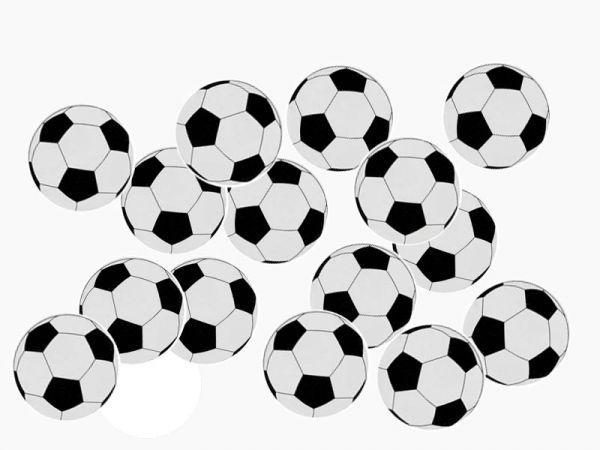 Streudeko Fußball D 2cm Pappe 50 Stück