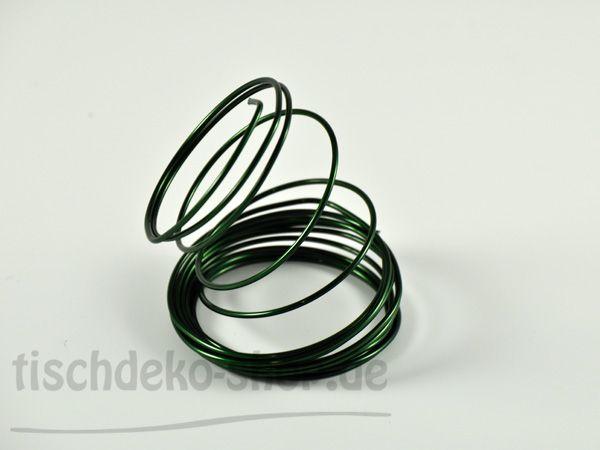 Aludraht-Ring Olivgrün Ø 2mm 3 Meter