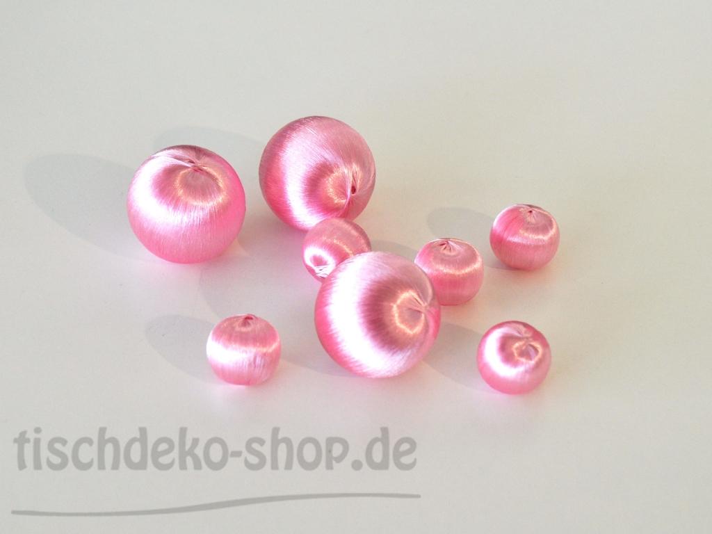 Streudeko set deko kugeln seidengarn rosa 8 teilig bei for Tischdeko shop