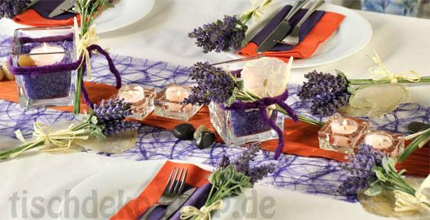 Tischdekoration In Der Farbe Orange Kaufen