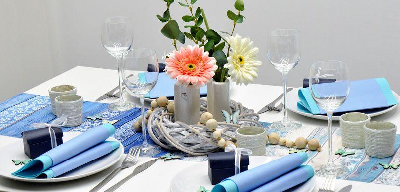 Tischdekoration In Der Farbe Turkis Kaufen