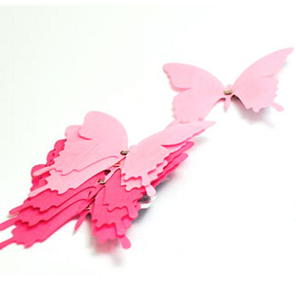 Schmetterlinge mit Clip Rosa 6 Stk bei Tischdeko-Shop.de