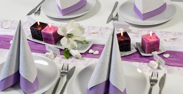 Tischdekoration In Erika Rosa Kaufen Tischdeko Shop