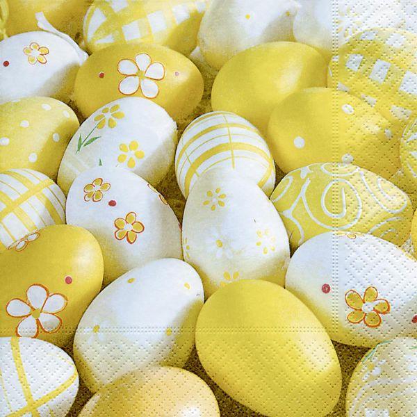 Serviette Yellow eggs Ostern 33x33cm 20 Stück bei Tischdeko-Shop.de