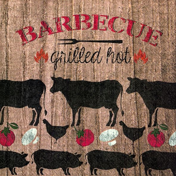 Serviette BARBECUE GRILLED HOT 20er Pack