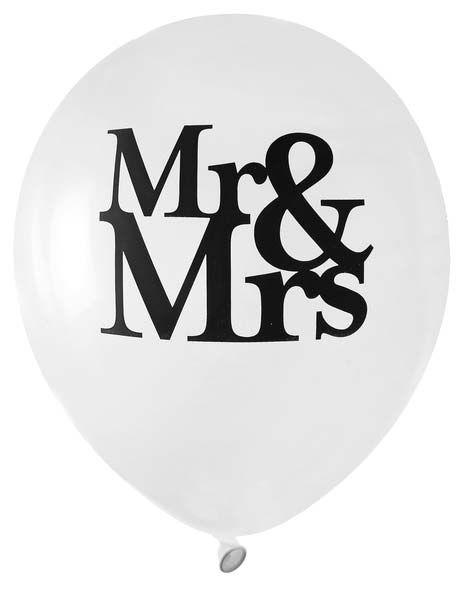 Luft-Ballon Mr & Mrs 8 Stück bei Tischdeko-Shop.de