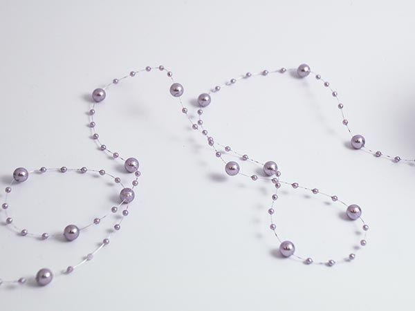 Band Perlen Altrosa Ø6mm 15m-Vorteilsrolle