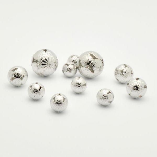 Metallkugeln Marrakesch silber 11er Set sort.