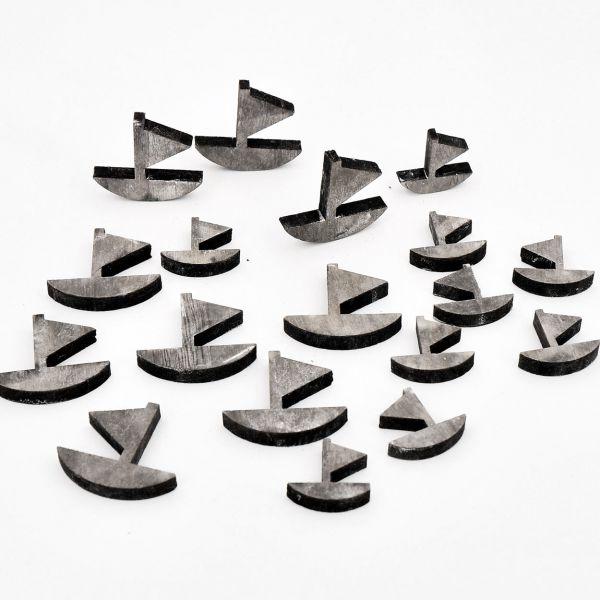 Streudeko Schiffe Dunkelgrau 18 Stück bei Tischdeko-Shop.de