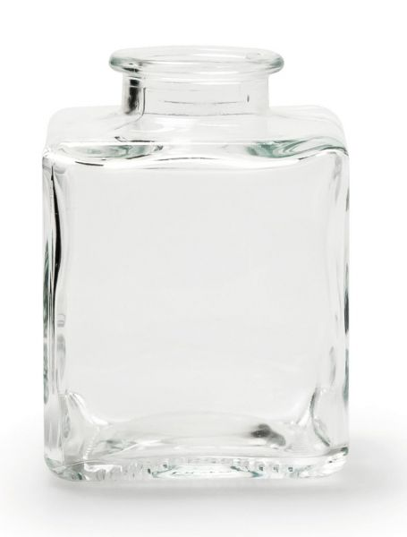 Eckige Vase Binky in Flaschenform 10 x 7 x 7 cm bei Tischdeko-Shop.de