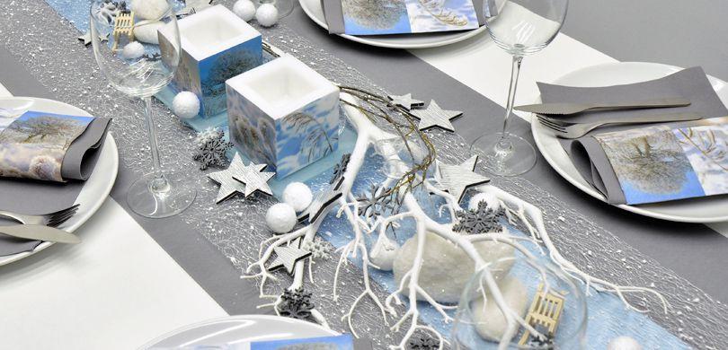 Winterliche Tischdekoration A Winter Day Bei Tischdeko Shop De