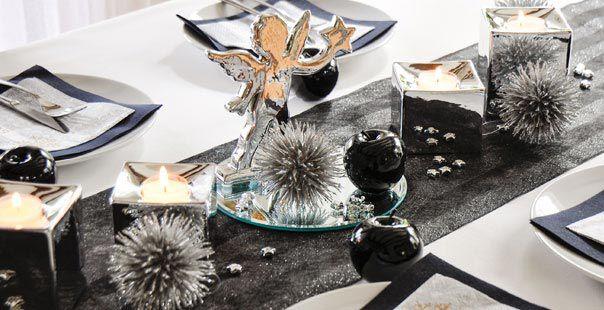 Tischdeko weihnachten silber blau  Weihnachts Tischdekoration kaufen bei Tischdeko-Shop